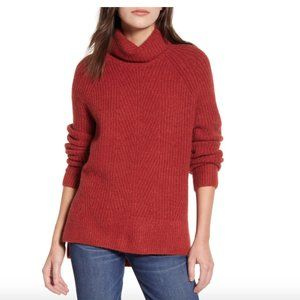 NWT Women's Madewell Turtleneck Sweater Ruby Red L